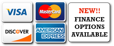 Visa, Mastercard, American Express, Discover Card, Financing Available