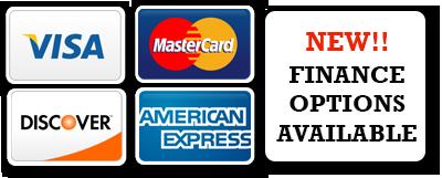 Visa, Mastercard, American Express, Discover Card, Financing Available